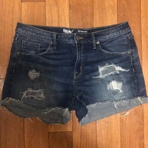 Missimo Distress Mid Rise Shorts